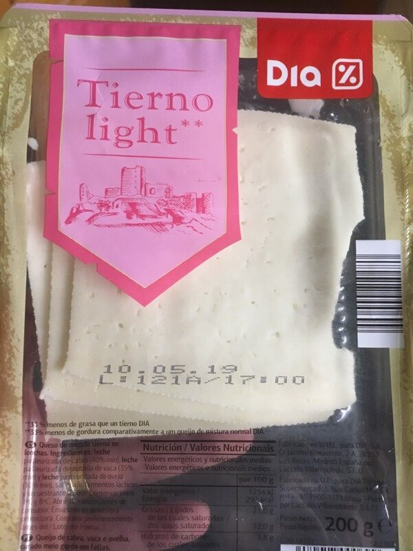 Queso tierno light - Producto