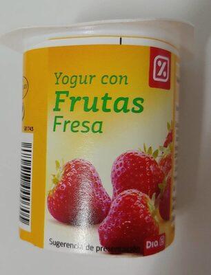 Yogur con frutas fresa - Produit - es