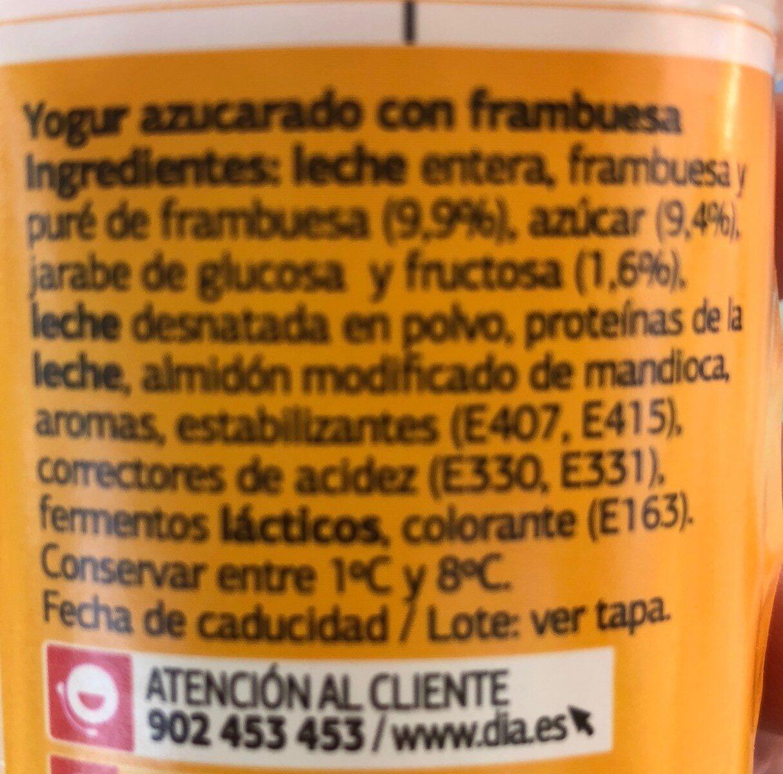 Yogur con frutas fresa - Ingrédients - es