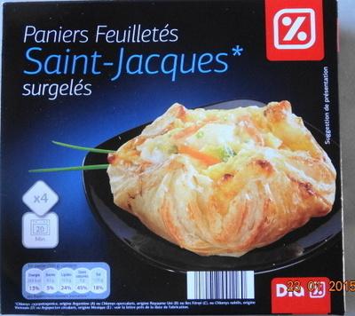 Paniers Feuilletés Saint-Jacques* (x 4), Surgelés - Produit - fr