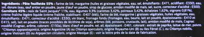 Paniers Feuilletés Saint-Jacques* (x 4), Surgelés - Ingrédients - fr