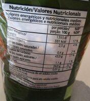 Lentejas pardina - Información nutricional - es