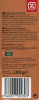 Café soluble descafeinado - Informació nutricional