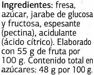 Mermelada de fresa extra - Ingrediënten - es