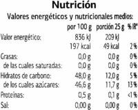 Mermelada de fresa extra - Voedingswaarden - es