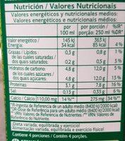 Leche desnatada - Informations nutritionnelles - es