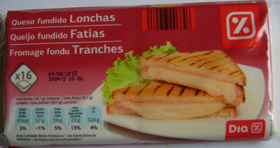 Fromage fondu tranches - Producto