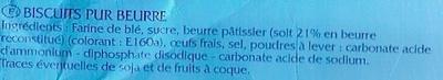 Galettes Bretonnes Pur Beurre - Ingredientes