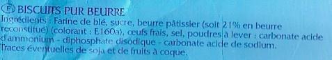 Galettes Bretonnes Pur Beurre - Ingredients