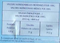 Galettes Bretonnes Pur Beurre - Información nutricional