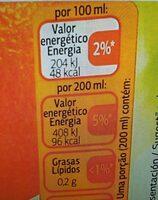 Zumo de naranja - Informació nutricional