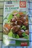 Gésiers de Canard, Confits dans la graisse de canard - Produit