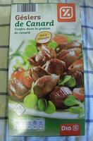 Gésiers de Canard, Confits dans la graisse de canard - Product - fr
