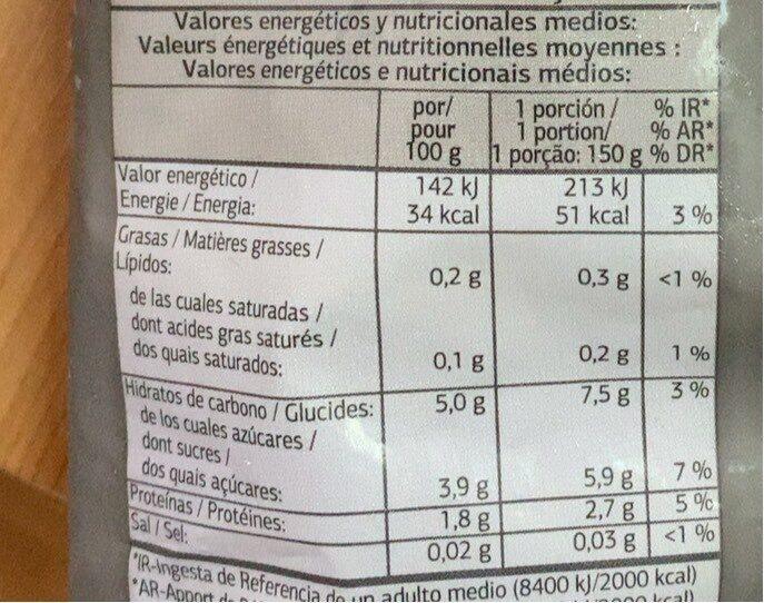Salteado de setas y champiñones congeladas Dia - Informations nutritionnelles - es