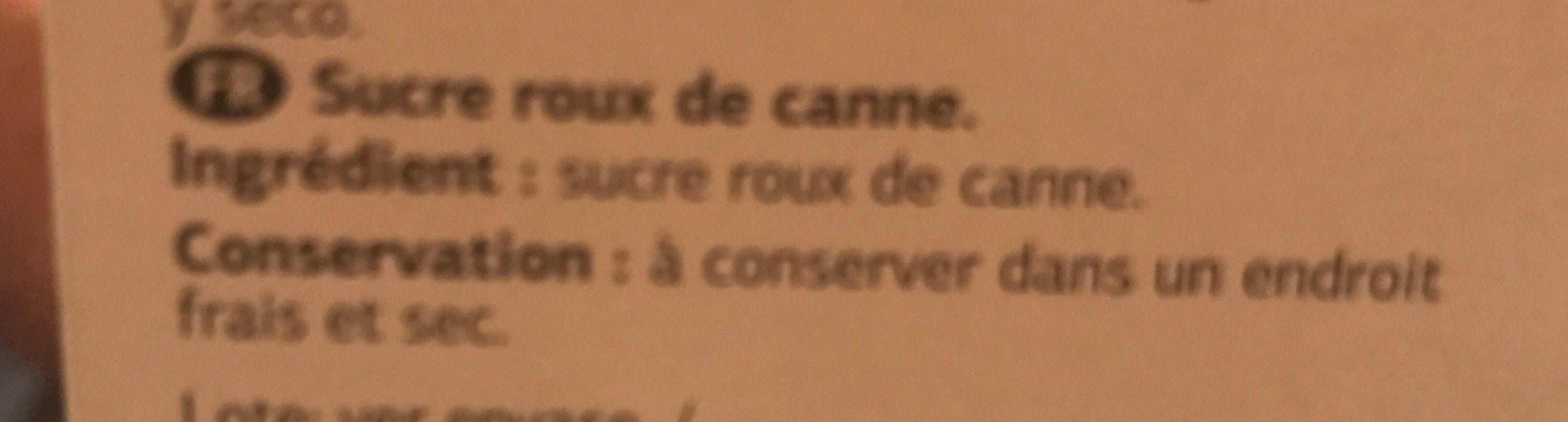 Cassonade - Ingrediënten