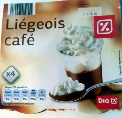 Liégeois café - Producto