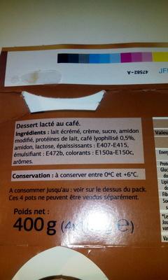 Liégeois café - Ingredientes