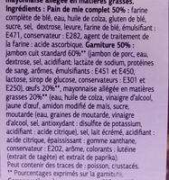 Maxi jambon oeufs - Ingredients