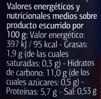 Garbanzo categoría extra - Voedigswaarden