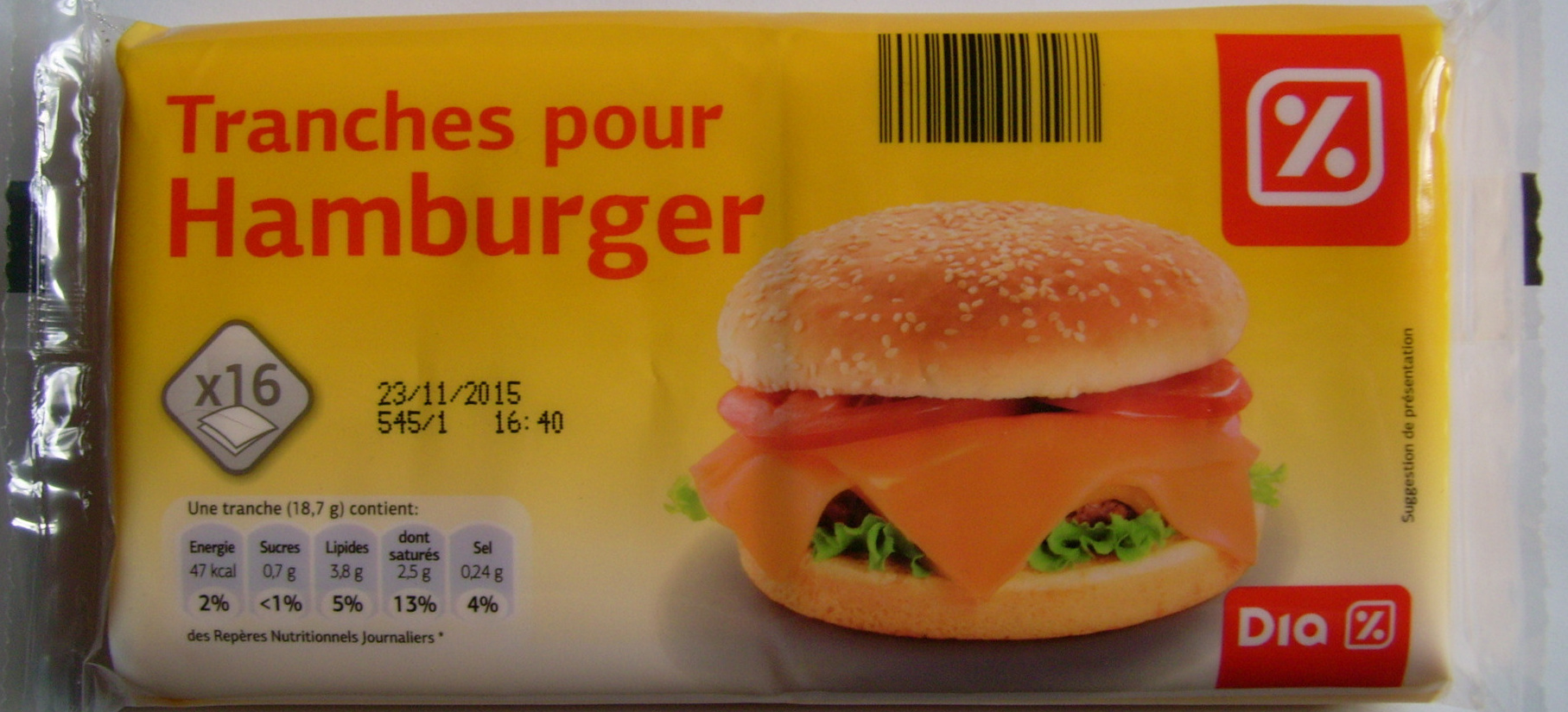 Tranches pour Hamburger - Product - fr