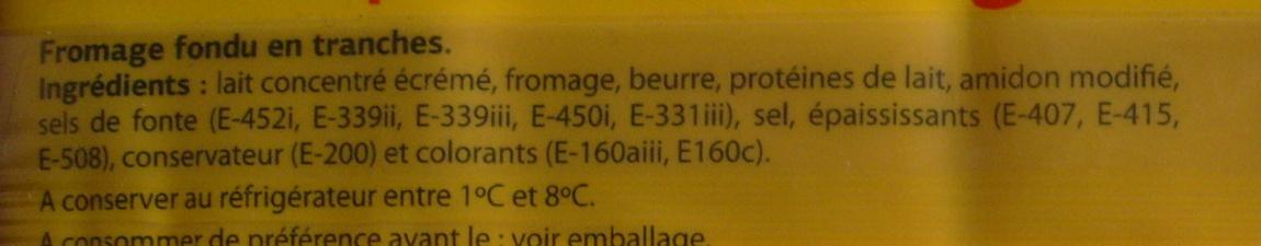 Tranches pour Hamburger - Ingrediënten - fr