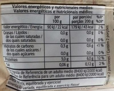 Espinacas cortadas ultracongeladas - Información nutricional
