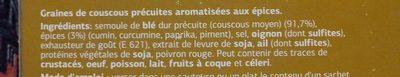Couscous parfumé - Ingrediënten
