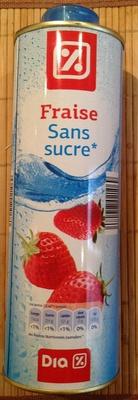 Sirop de fraise sans sucre - Produit - fr