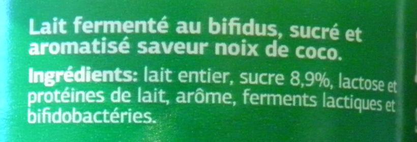 Bifidus saveur Coco - Ingrediënten - fr