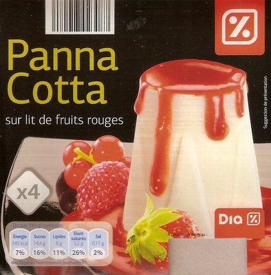 Panna Cotta sur Lit de Fruits Rouges - Produit