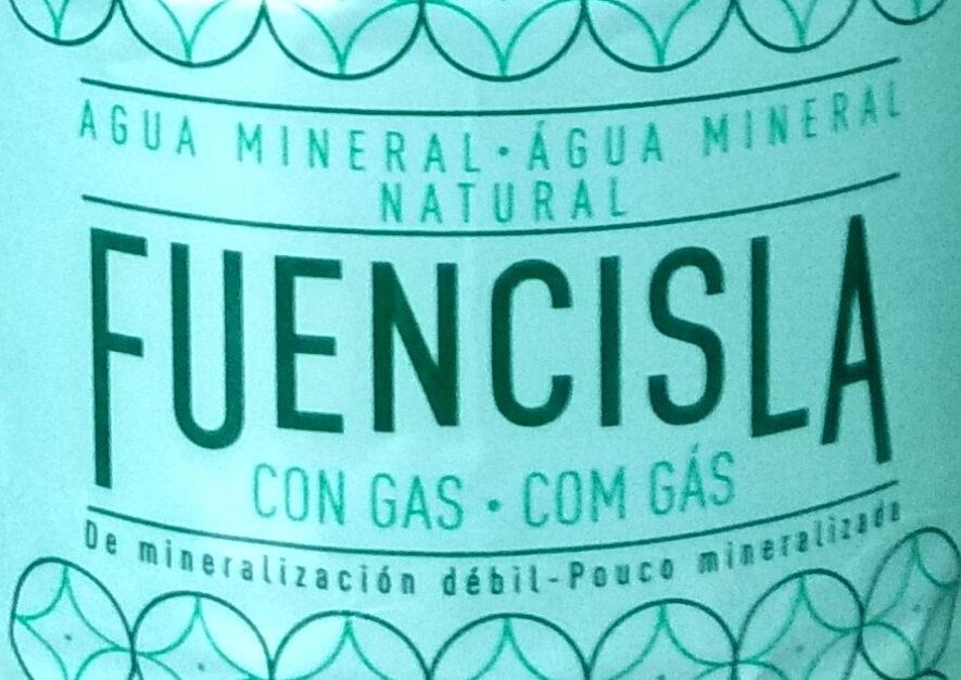Fuencisla agua mineral natural con gas - Ingredientes - es