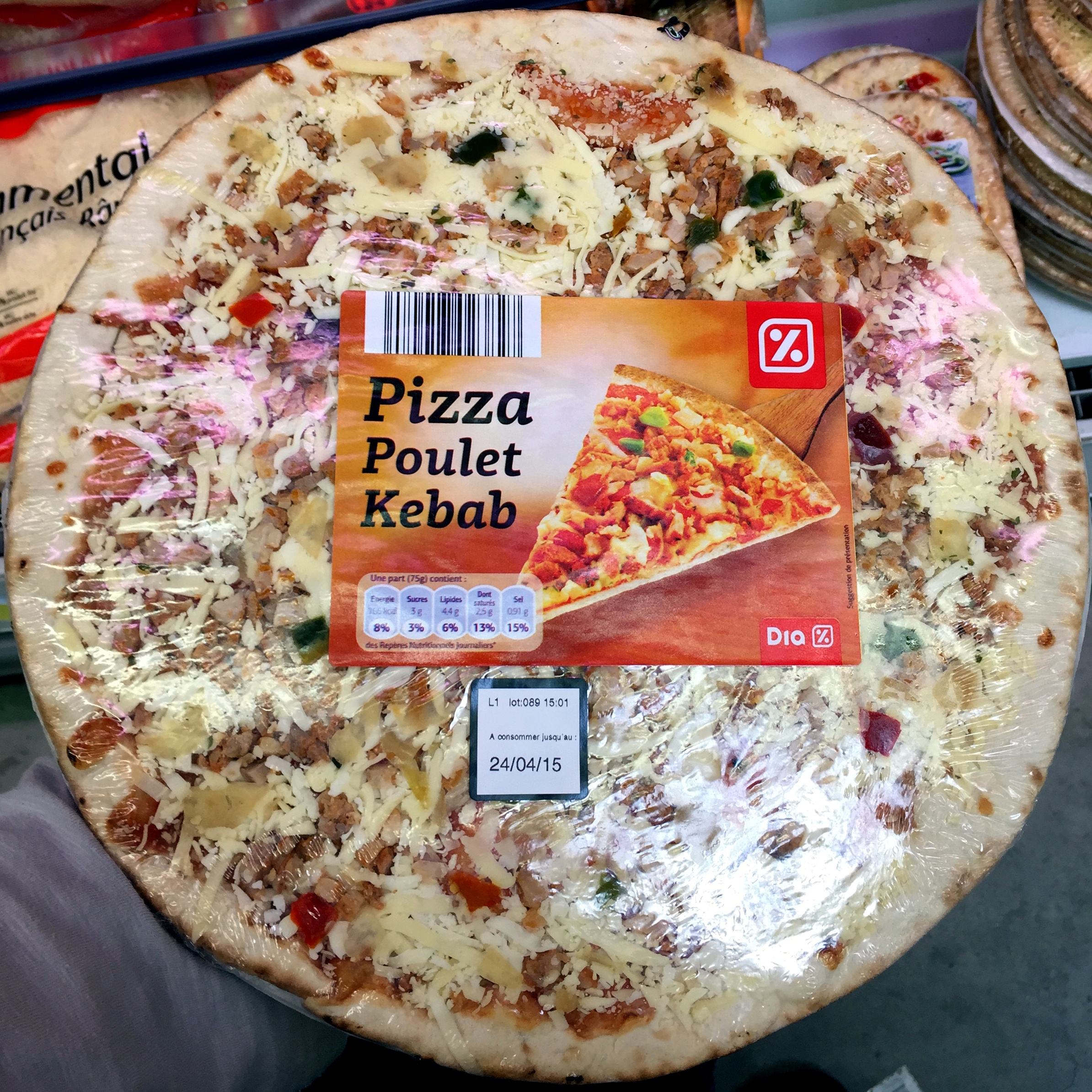 Pizza Poulet Kebab - Product - fr