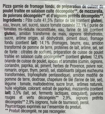Pizza Poulet Kebab - Ingrediënten - fr