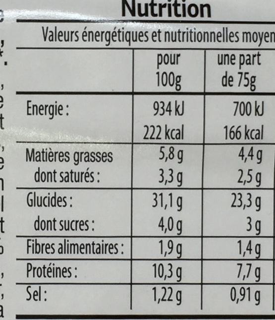 Pizza Poulet Kebab - Voedingswaarden - fr