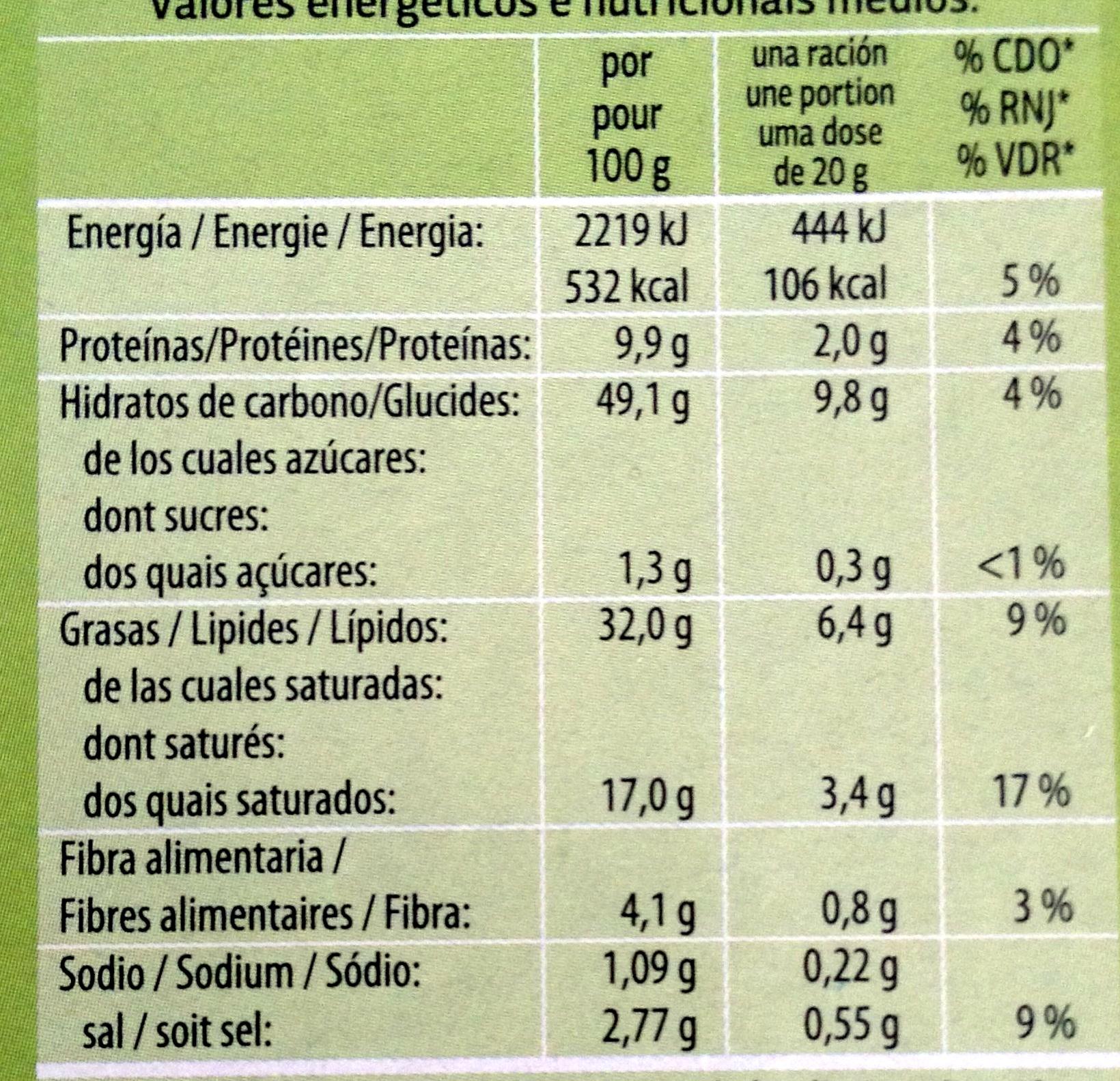 Feuilletés aux olives noires - Informations nutritionnelles - fr