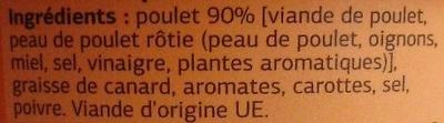 Rillettes de Poulet Rôti en marmite - Ingrediënten - fr