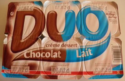 Duo crème dessert Chocolat Lait Dia - Produit