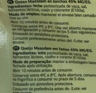 Queso maasdam - Ingredients