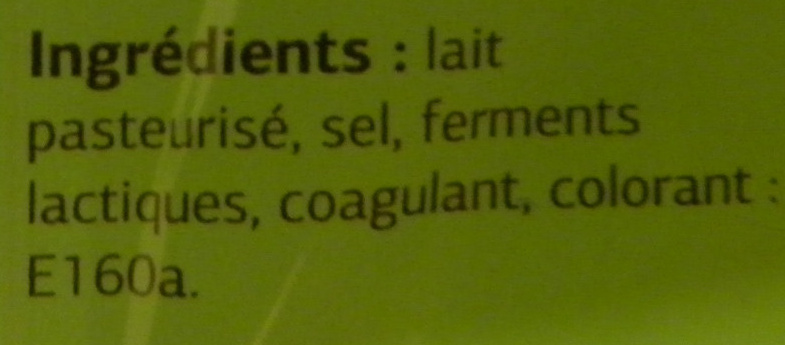 Maasdam (27% MG) x 10 tranches - 200 g - Dia - Ingrediënten - fr