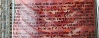 Chorizo Extra - Ingredientes