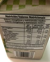 Crema de verduras - Informació nutricional - es