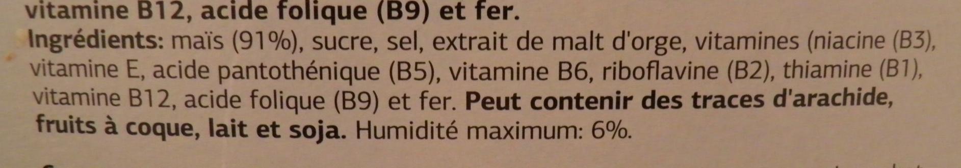 Corn Flakes Dia - Ingrédients - fr