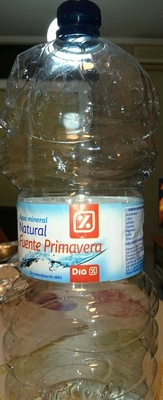 Agua mineral natural Fuente Primavera - Producto