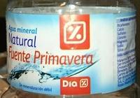 Agua mineral natural Fuente Primavera - Ingredientes