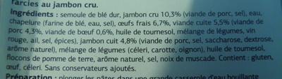 Fagottini Jambon Cru - Ingrédients
