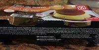 Flan de huevo al baño maría - Informació nutricional