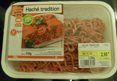 Haché tradition Pur Boeuf - Product - fr
