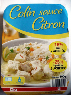 Colin sauce Citron - Product - fr