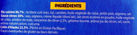 Colin sauce Citron - Ingredients - fr