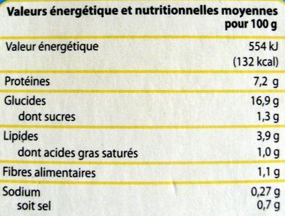 Colin sauce Citron - Nutrition facts - fr